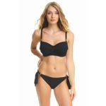 Fantasie Ottawa Twist Bandeau Bikini Top – Black