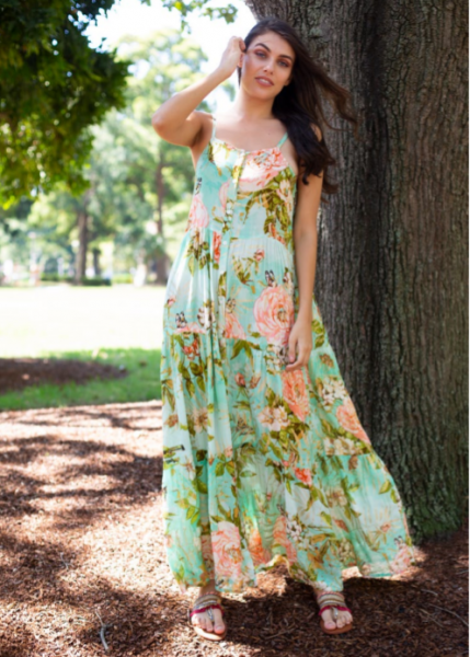 Samsaara Floral Days Maxi Dress QPTG